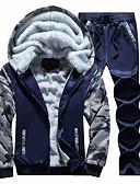 billiga Huvtröjor och sweatshirts till herrar-Herr Grundläggande Huva Långärmad Sportskläder Set - Kamouflage