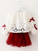 povoljno Kompletići za bebe-Dijete Djevojčice Aktivan / Osnovni Dnevno Print Dugih rukava Regularna Komplet odjeće Blushing Pink / Dijete koje je tek prohodalo