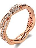 Χαμηλού Κόστους Ρολόγια Βραχιόλια-Γυναικεία Band Ring Δαχτυλίδι 1pc Ασημί Χρυσό Τριανταφυλλί Ορείχαλκος Επιμεταλλωμένο με Πλατίνα Με Επίστρωση Ροζ Χρυσού κυρίες Μοντέρνο Μοντέρνα Γάμου Καθημερινά Κοσμήματα Κομψό Λάσο Ντόνατς Κύμα