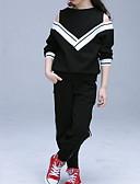 זול סטים של ביגוד לבנות-סט של בגדים שרוול ארוך אחיד פעיל בנות ילדים