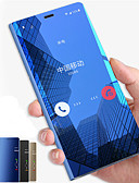 baratos Acessórios para Samsung-Capinha Para Samsung Galaxy Note 9 / Note 8 / Note 5 Com Suporte / Espelho / Flip Capa Proteção Completa Sólido Rígida PC