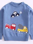 povoljno Obiteljski komplet odjeće-Djeca Dječaci Osnovni Dnevno Print Print Dugih rukava Regularna Pamuk Džemper i kardigan Plava