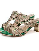 ราคาถูก ชุดเดรสลูกไม้สุดโรแมนติก-สำหรับผู้หญิง รองเท้าแตะ ส้นหนา Synthetics ความสะดวกสบาย ฤดูร้อน Almond / สีเขียว