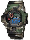 ราคาถูก นาฬิกาดิจิทัล-SYNOKE สำหรับผู้ชาย นาฬิกาแนวสปอร์ต นาฬิกาดิจิตอล ดิจิตอล PU Leather ฟ้า / แดง / เขียว 50 m กันน้ำ ปฏิทิน โครโนกราฟ ดิจิตอล แฟชั่น - แดง สีเขียว ฟ้า / นาฬิกาจับเวลา / noctilucent