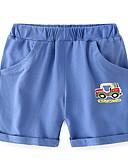 povoljno Hlače za dječake-Djeca Dječaci Aktivan Jednobojni Pamuk Kratke hlače Navy Plava