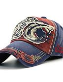 Χαμηλού Κόστους Men's Hats-Γιούνισεξ Συνδυασμός Χρωμάτων Βασικό Βαμβάκι Ντένιμ Τζόκεϊ Όλες οι εποχές Κρασί Ανοιχτό Γκρι Θαλασσί