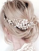 Χαμηλού Κόστους Πέπλα Γάμου-Γυναικεία Φλοράλ Απλός Ύφασμα Κράμα Χιαστί-Κρυστάλλινο / Χτενιές Μαλλιών