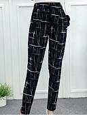 זול חולצות לגברים-בגדי ריקוד נשים מוּגזָם מידות גדולות יומי הארם מכנסיים - אחיד שחור ולבן, פרנזים כותנה / פשתן לבן שחור אפור כהה L XL XXL