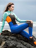 ราคาถูก กางเกงผู้ชาย-HISEA® สำหรับผู้หญิง Wetsuits เต็ม 1.5มม. สแปนเด็กซ์ ชุดดำน้ำ รักษาให้อุ่น แขนยาว ซิปหลัง - การดำน้ำ กีฬาทางน้ำ ลายต่อ ฤดูใบไม้ร่วง ฤดูร้อน