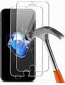 baratos Protetores de Tela para iPhone-AppleScreen ProtectoriPhone 8 Plus Alta Definição (HD) Protetor de Tela Frontal 2 pcs Vidro Temperado