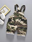 ราคาถูก กางเกงชั้นในเด็กเล็กผู้ชาย-ทารก เด็กผู้ชาย พื้นฐาน ลายพิมพ์ ชุดเอี๊ยมและชุดหมี อาร์มี่ กรีน