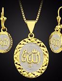 Χαμηλού Κόστους Quartz Ρολόγια-Γυναικεία Κρίκοι Κρεμαστά Κολιέ Μακρύ Σειρά Τοτέμ Πίστη κυρίες Απλός Μοντέρνα αφρικανός 18Κ Επίχρυσο Σκουλαρίκια Κοσμήματα Χρυσό Για Αργίες Εξόδου