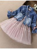 povoljno Kompletići za djevojčice-Djeca Djevojčice Aktivan Ulični šik Dnevno Izlasci Print Kolaž Mašna Vezeno Mrežica Dugih rukava Pamuk Komplet odjeće Blushing Pink