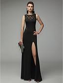 Χαμηλού Κόστους Φορέματα για παρανυφάκια-Ίσια Γραμμή Με Κόσμημα Μακρύ Δαντέλα / Ζέρσεϊ Όμορφη Πλάτη Επίσημο Βραδινό Φόρεμα 2020 με Με Άνοιγμα Μπροστά