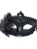 baratos Máscaras-Renda Máscara Artigos de Halloween Mascarada Inspirado por Deusa Fantasma da ópera Preto Branco Dia Das Bruxas Dia Das Bruxas Carnaval Adulto Homens Mulheres