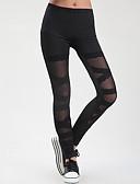 ราคาถูก เลกกิ้ง-ชุดเต้นละติน แกะสลัก / เสื้อรัดรูป สำหรับผู้หญิง การฝึกอบรม / Performance ยางยืด / Charmeuse ลูกไม้ / ข้อต่อ สูง กางเกง