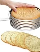 olcso Szexi testek-Bakeware eszközök Rozsamentes acél + A ragú ABS / Rozsdamentes acél Több funkciós / DIY Kenyér / Torta / Cake Kör süteményformákba / Cake Cutter 1db
