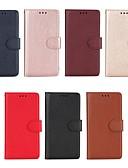 baratos Capinhas para Celulares-Capinha Para Huawei Honor 6X / Honor 6A / Mate 10 Carteira / Porta-Cartão / Com Suporte Capa Proteção Completa Sólido Rígida PU Leather