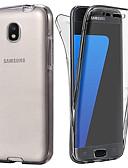 ราคาถูก เคสสำหรับโทรศัพท์มือถือ-Case สำหรับ Samsung Galaxy J7 (2017) / J6 / J5 (2017) Transparent ตัวกระเป๋าเต็ม สีพื้น Soft TPU