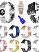 זול להקות Smartwatch-צפו בנד ל סדרת Apple Watch 5/4/3/2/1 Apple רצועת ספורט / כלי עשה זאת בעצמך מתכת אל חלד רצועת יד לספורט