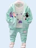 povoljno Vanjska odjeća za bebe-Dijete Djevojčice Osnovni Dnevno Print Dugih rukava Regularna Komplet odjeće purpurna boja / Dijete koje je tek prohodalo