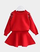 povoljno Haljinice za bebe-Djeca Djevojčice Osnovni Jednobojni Dugih rukava Komplet odjeće Blushing Pink