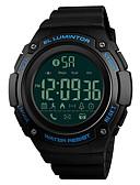ราคาถูก นาฬิกาข้อมือหรูหรา-SKMEI สำหรับผู้ชาย นาฬิกาแนวสปอร์ต นาฬิกาข้อมือ นาฬิกาดิจิตอล ญี่ปุ่น ดิจิตอล PU Leather ดำ / Clover 50 m Bluetooth นาฬิกาปลุก ปฏิทิน ดิจิตอล ความหรูหรา แฟชั่น - สีเขียว ฟ้า สีทอง / หนึ่งปี