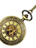ราคาถูก นาฬิกาพก-สำหรับผู้หญิง นาฬิกาแบบพกพา นาฬิกาทอง ไขลานอัตโนมัติ ทอง แกะสลักกลวง นาฬิกาใส่ลำลอง หัวกระโหลก ระบบอนาล็อก สุภาพสตรี ความหรูหรา หัวกระโหลก - สีทอง