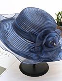 ราคาถูก หมวกสตรี-ผ้าไหมแก้ว / Straw หมวก กับ ดอกไม้ 1pc งานแต่งงาน / งานปาร์ตี้ / งานราตรี หูฟัง