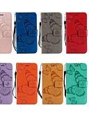 baratos Outro caso de telefone-Capinha Para Nokia Nokia 6 2018 / Nokia 5 / Nokia 5.1 Carteira / Porta-Cartão / Com Suporte Capa Proteção Completa Borboleta Rígida PU Leather