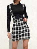 ราคาถูก กางเกงผู้หญิง-สำหรับผู้หญิง เข้ารูป ฝ้าย กระโปรง - สีพื้น สีดำ S M L
