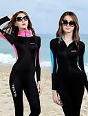 Χαμηλού Κόστους Μπούρκα-HISEA® Γυναικεία Dive κοστούμι του δέρματος Στολές κατάδυσης Αναπνέει Γρήγορο Στέγνωμα Υψηλή Ελαστικότητα Μακρυμάνικο Μποστινό Φερμουάρ - Καταδύσεις Θαλάσσια Σπορ Patchwork Άνοιξη Καλοκαίρι / UPF50+