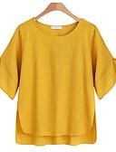 povoljno Print Dresses-Bluza Žene Dnevno Pamuk Jednobojni Širok kroj Crn