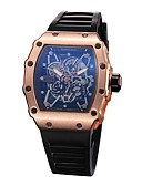 ราคาถูก นาฬิกากีฬา-สำหรับผู้ชาย นาฬิกาแนวสปอร์ต นาฬิกาข้อมือ นาฬิกาอิเล็กทรอนิกส์ (Quartz) ยางทำจากซิลิคอน ดำ โครโนกราฟ Creative ดีไซน์มาใหม่ ระบบอนาล็อก ความหรูหรา วินเทจ - สีดำ เงิน / ดำ Black / Rose Gold / หนึ่งปี