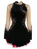 Χαμηλού Κόστους Φόρεμα για παγοδρομία-Φόρεμα για φιγούρες πατινάζ Γυναικεία Κοριτσίστικα Patinaj Φορέματα Μαύρο Λευκό Βυσσινί Spandex Υψηλή Ελαστικότητα Ανταγωνισμός Ενδυμασία πατινάζ Διατηρείτε Ζεστό Χειροποίητο Jeweled Στρας Μακρυμάνικο