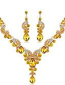 ราคาถูก เน็กไทและโบว์ไท-สำหรับผู้หญิง ไพลิน ซิทริน Drop Earrings สร้อยคอคำชี้แจง ยาว สุภาพสตรี ดีไซน์เฉพาะตัว สง่างาม Indian แฟนซี พลอยเทียม ชุบเงิน ต่างหู เครื่องประดับ สายรุ้ง / แดง / ฟ้า สำหรับ งานแต่งงาน งานราตรี