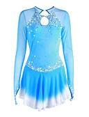 Χαμηλού Κόστους Φόρεμα για παγοδρομία-Φόρεμα για φιγούρες πατινάζ Γυναικεία Κοριτσίστικα Patinaj Φορέματα Βαθύ μπλε Βιολετί Λευκό φωτεινή βαφή Spandex Υψηλή Ελαστικότητα Ανταγωνισμός Ενδυμασία πατινάζ Χειροποίητο Μονόχρωμο Μακρυμάνικο
