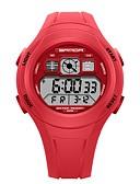 ราคาถูก นาฬิกาสำหรับผู้ชาย-SANDA สำหรับผู้ชาย สำหรับผู้หญิง นาฬิกาแนวสปอร์ต นาฬิกาดิจิตอล ญี่ปุ่น ดิจิตอล ยางทำจากซิลิคอน ดำ / แดง / เขียว 30 m กันน้ำ ปฏิทิน นาฬิกาจับเวลา ดิจิตอล Cartoon แฟชั่น - สีเขียว สีชมพู สีฟ้า