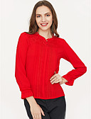 billige Skjorter til damer-Bomull Skjorte Dame - Ensfarget Svart / Vår
