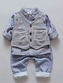 cheap Women's Clothing-Toddler Boys' Basic Solid Colored Long Sleeve Clothing Set Blue