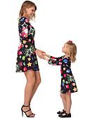 povoljno Obiteljski komplet odjeće-Dongguan pby_07rl haljina za majku i kćerku sretna zvijezda ledene snježne pahulje Božićni print haljina roditelj-dijete suknja xmas obitelj odgovara odjeću black_kids 90cm