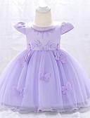 זול שמלות לתינוקות-שמלה כותנה עד הברך שרוולים קצרים אחיד Party וינטאג' בנות תִינוֹק