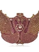 Χαμηλού Κόστους Μηχανικά Ρολόγια-Γυναικεία Κρυστάλλινη λεπτομέρεια / Με Τρύπες Κράμα Βραδινή τσάντα Κρύσταλλο Βραδινά Τσάντες Κρυστάλλινα Ανθισμένο Ροζ / Φθινόπωρο & Χειμώνας