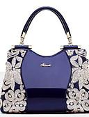 ราคาถูก เดรสพลัสไซซ์-สำหรับผู้หญิง เลื่อม / ซิป Patent Leather กระเป๋าถือยอดนิยม สีดำ / ไวน์ / ขาว