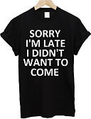 billige T-skjorter og singleter til herrer-Rund hals T-skjorte Herre - Bokstaver Grunnleggende Hvit / Kortermet