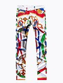 זול מכנסיים ושורטים לגברים-בגדי ריקוד גברים פעיל / סגנון רחוב ליציאה רזה צ'ינו מכנסיים - קשת אננס, דפוס אביב סתיו קשת 34 36 38