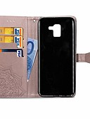 billige Samsung-tilbehør-Etui Til Samsung Galaxy J6 / J4 Lommebok / Kortholder / med stativ Heldekkende etui Mandala Hard PU Leather