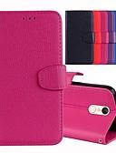 ราคาถูก เคสสำหรับโทรศัพท์มือถือ-Case สำหรับ Xiaomi Xiaomi Redmi 5 Plus / Xiaomi Redmi 5 / Xiaomi Redmi 4A Card Holder / with Stand / Flip ตัวกระเป๋าเต็ม สีพื้น Hard หนัง PU
