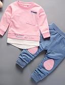 זול סטים של ביגוד לתינוקות-סט של בגדים שרוול ארוך דפוס פעיל בנות תִינוֹק