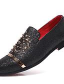 Χαμηλού Κόστους Αντρικά Πουκάμισα-Ανδρικά Τα επίσημα παπούτσια Φο Δέρμα Φθινόπωρο & Χειμώνας Δουλειά / Καθημερινό Μοκασίνια & Ευκολόφορετα Φορέστε την απόδειξη Ριγέ Μαύρο / Χρυσό / Ασημί / Πάρτι & Βραδινή Έξοδος / Πούλιες / Καρφιά
